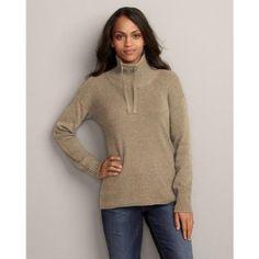Eddie Bauer Mockneck Tunic Sweatshirt Sweater, Butterscotch XL Regular Eddie Bauer. $19.99