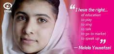 Happy birthday Malala! Today is Malala Yousafzai's 16th birthday. Malala, as many of you will know, is the Pakistani girl who was shot in the head for wanting to go to school. Defying her attackers, Malala has made a full recovery and has returned to school in the UK. #malaladay