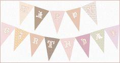 Vintage Happy Birthday Bunting Banner {Free!}