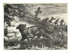 Hahnemuhle PHOTO RAG Fine Art Paper (other products available) - French villagers hunt a werewolf. - Image supplied by Mary Evans Prints Online - Fine Art Print on Paper made in the UK