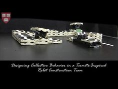 Designing Collective Behavior in a Termite-Inspired Robotic Construction Team  Published on Feb 13, 2014 A team of computer scientists and engineers at Harvard University has created an autonomous robotic construction crew. The system needs no supervisor, no eye in the sky, no blueprint, and no communication: just simple robots—any number of robots—and a very smart algorithm.
