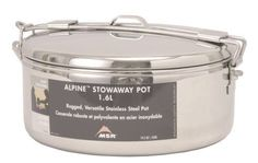 Camping Hiking cookware Alpine Stowaway Pot 1.6 L Cooking Tools F Camp Outdoor #MSR