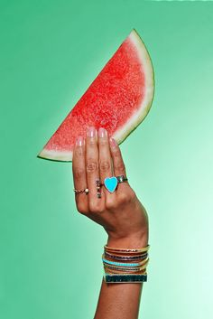 As an end-of-summer treat, we decided to combine two of our favorite iced-out treats: snow cones (provided by Clean Shave Ice) and bling. Mouth-watering, right? See all the photos and details on the jewelry worn. Hand Jewelry, Keep Jewelry, Photo Jewelry, Fashion Jewelry, Jewellery, Jewelry Photography, Fashion Photography, Photography Magazine, Editorial Photography
