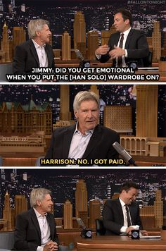 Harrison Ford explains show biz to Jimmy.   http://ift.tt/1ThLxe7 via /r/funny http://ift.tt/1soRYDy  funny pictures