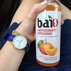 """If you haven't tried Bai drinks yet, go out and buy yourself a case at Costco! You'll be addicted to them once you have your very first sip!!!  #bai #danielwellington #fashionblogger #fblogger #foodie #costaricaclementine #a_classic_touch"" Photo taken by @a_classic_touch on Instagram, pinned via the InstaPin iOS App! http://www.instapinapp.com (07/27/2015)"