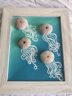 Items similar to Jellyfish Art. Jellyfish Decor. Urchin Jellies. Urchin Jellies Frame. on Etsy