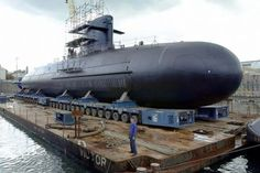 atomic future | Scorpene-class diesel submarine at the shipyard in Cherbourg, France ...