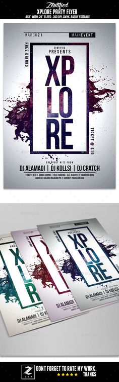 Xplore Party Flyer — Photoshop PSD #poster #amazing • Available here → https://graphicriver.net/item/xplore-party-flyer/16007046?ref=pxcr