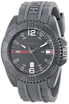 Tommy Hilfiger Men's 1791042 Analog Display Quartz Grey Watch * To view further for this item, visit the image link. Tommy Hilfiger Watches, Grey Watch, Omega Watch, Quartz, Display, Accessories, Mineral, Image Link, Swimming