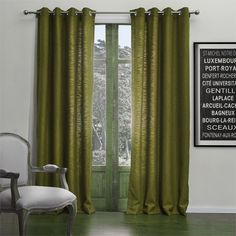 Modern Solid Green Curtain   #curtains #decor #homedecor #homeinterior #green Brown Curtains, Curtains With Blinds, Cheap Curtains, Home Interior, Cool Gadgets, Life Is Beautiful, Eco Friendly, Modern, Milan