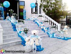 Στολισμός εκκλησίας βάπτισης αγοριού. Seaside Decor, Greek Wedding, Baby Christening, Heaven Sent, Outdoor Parties, Diy And Crafts, Birthdays, Baby Shower, Party