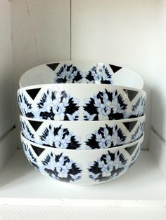 Salad Bowls // Pivoines Bleues Collection EmilieBok' design