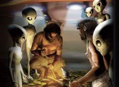 Pintura de 10.000 anos em Rocha na Índia retrata 'Aliens e UFOs'