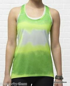 We love this Boxy Women's Running Tank Top from Nike to go with our lime  FitSeries headphones.