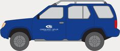 Crescent Spur vehicle decal