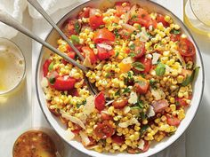 corn, tomato, and basil ssalad