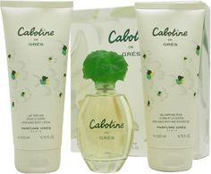 Awesome Cabotine By Parfums Gres For Women. Set-edt Spray 3.4 OZ & Body Lotion 6.7 OZ & Shower Gel 6.7 OZ