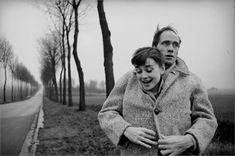 Audrey Hepburn and husband Mel Ferrer,  1956