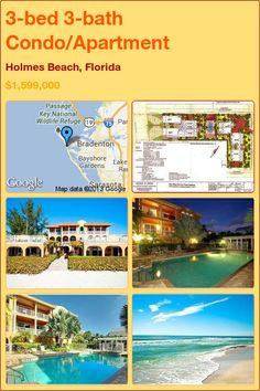3-bed 3-bath Condo/Apartment in Holmes Beach, Florida ►$1,599,000 #PropertyForSale #RealEstate #Florida http://florida-magic.com/properties/5761-condo-apartment-for-sale-in-holmes-beach-florida-with-3-bedroom-3-bathroom