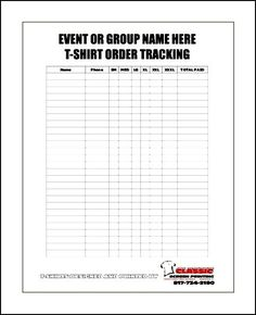 Blank Fundraiser Order Form Template | Sample Order Templates ...
