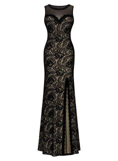 Taylisa Women's Sleeveless Long Black Lace Split Side Evening Formal Dress *** See this great product. (This is an affiliate link and I receive a commission for the sales)