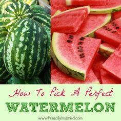 How to Pick the Perfect Watermelon from Primally Inspired