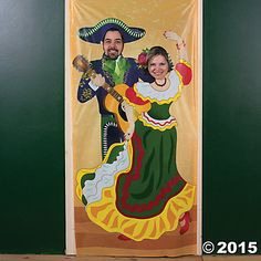 Fiesta Couple Photo Door Banner