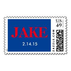 Zazzle Custom Personalized Postage #Stamp for Bar #Mitzvah invitation, party, gift or fun   http://www.zazzle.com/bkhibiscus*