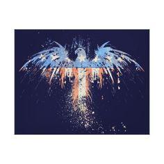 Patriotic American Eagle Flag Stretched Canvas Pri Canvas Prints