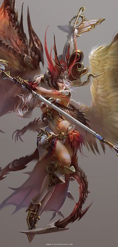 Card Game Illustration by Yu Cheng Hong, via Behance