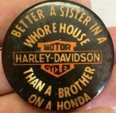 An old Harley pin