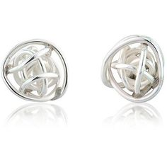 Anne Reeves Jewellery Bound Sphere Silver Stud Earrings (1.910 RUB) ❤ liked on Polyvore featuring jewelry, earrings, silver stud earrings, silver jewelry, silver earrings, earrings jewelry and stud earrings