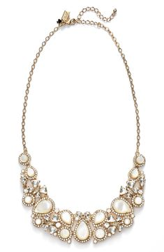 The pearly jewels surrounded in sparkly crystal on this Kate Spade necklace makes it the party-perfect statement.
