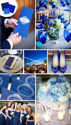 royal blue cobalt indigo dark blue wedding palette inspiration