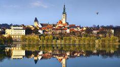 Tábor seen from across the Lužnice river