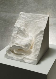 Topographic Paper Landscapes by Noriko Ambe. Paper is cut freehand, then stacked. Click thru for more.