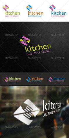 Kitchen Cuisine Logo ¨C Simple, unique and elegant cuisine logo emblem ¨C An excellent logo template highly suitable for food and ca