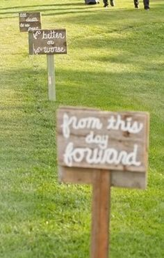 I will do this down the driveway at Foxcroft Farm but change the quotes to something cute!