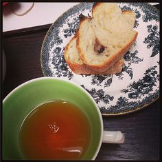 Delicious olive loaf and tea for breakfast. Looks like today will be a good day #tea #breakfast #alisonappleton #breakfast