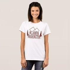 Camp Washington T-Shirt -nature diy customize sprecial design
