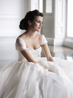 I remember being a little girl and drawing a wedding dress that had those sleeves...I've always thought they were so beautiful.