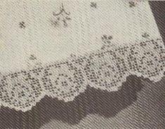 Free Crochet Rose Filet Edging Pattern