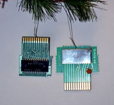 Atari Gamer Ornament Microchip Computer Geek by SnarlingBunny. nintendo, n64, nes, video game, gamer, techie, computer, gift, present, idea, ideas, necklace, pendant, nerd, geek, geekery, savvy, christmas, tree, holiday, men, man, dude
