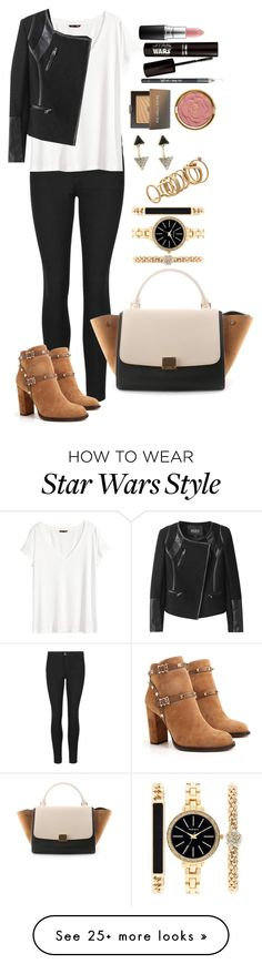 """Untitled #1266"" by fabianarveloc on Polyvore featuring Valentino, H&M, Chicnova Fashion, CÉLINE, MAC Cosmetics, Barry M, Laura Mercier, Milani, Oasis and Lipsy"