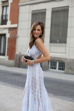White cut-out dress