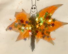 Autumn leaf butterfly Nature Based Preschool, Preschool Education, Autumn Art, Autumn Leaves, Leaf Art, Butterfly, Painting, Fall Leaves, Painting Art