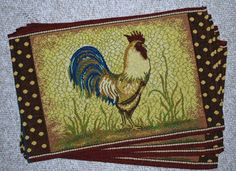 Rooster Placemats