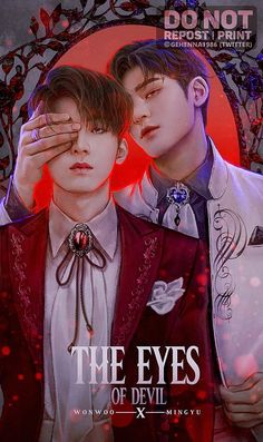 """""""Meanie - The Eyes Of Devil Wonwoo is a talented painter. He loves his paintings more than anything. But he unfortunately had an accident and was blind. During extreme desperation, he summoned a demon. Dino Seventeen, Seventeen Wonwoo, Satan, Chibi, Fanart Bts, Demon Eyes, Mingyu Wonwoo, Won Woo, Interactive Stories"""
