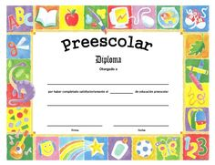 diploma gratuito pre-escolar - Pesquisa Google