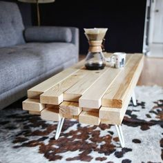 Learn how to make a simple wooden coffee table!